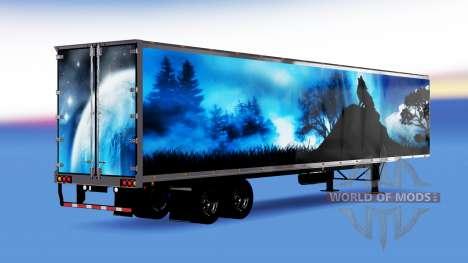 All-metal semi-trailer Wolf for American Truck Simulator