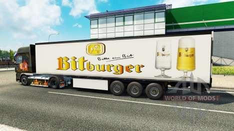 Skin Bitburger on the trailer for Euro Truck Simulator 2