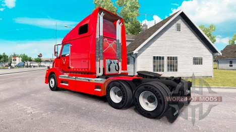 BR Williams skin for Volvo truck VNL 670 for American Truck Simulator