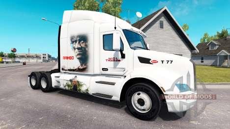 Rambo skin for the truck Peterbilt for American Truck Simulator