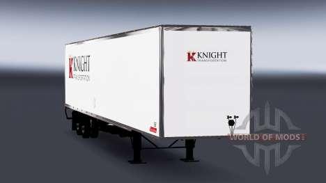 All-metal semitrailer Knight for American Truck Simulator