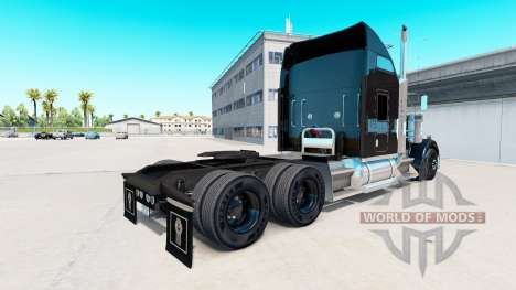 Skin on Aarons truck Kenworth W900 for American Truck Simulator