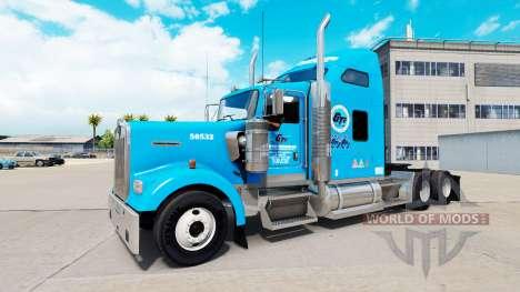 Gordon Trucking skin for Kenworth W900 tractor for American Truck Simulator