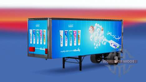 Iranian skins for trailers for American Truck Simulator