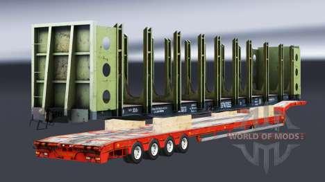 Semi-trailers with zeleznodoroznyj the line v1.4 for Euro Truck Simulator 2
