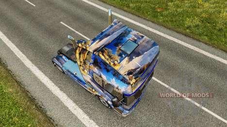 Winter skin for Scania truck for Euro Truck Simulator 2