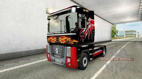 Trucker skin for truck Renault for Euro Truck Simulator 2