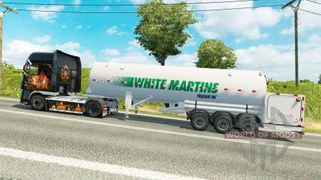 The semitrailer-tank White Martins for Euro Truck Simulator 2