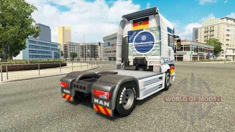Bundeswehr skin for MAN truck for Euro Truck Simulator 2