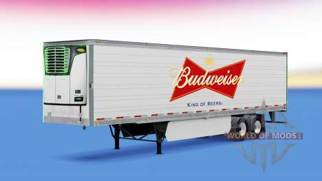 Skin on Budweiser reefer semi-trailer for American Truck Simulator