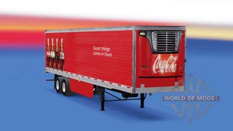Refrigerated semi-trailer Coca-Cola for American Truck Simulator
