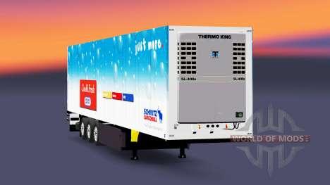 The refrigerated semi-trailer Schmitz Cargobull for Euro Truck Simulator 2