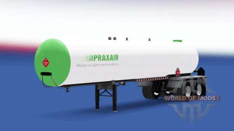 Skin Praxair fuel semi-trailer for American Truck Simulator