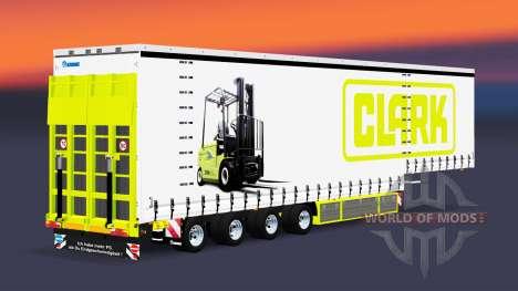 Four-axle curtain semi-trailer Krone v5.0 for Euro Truck Simulator 2