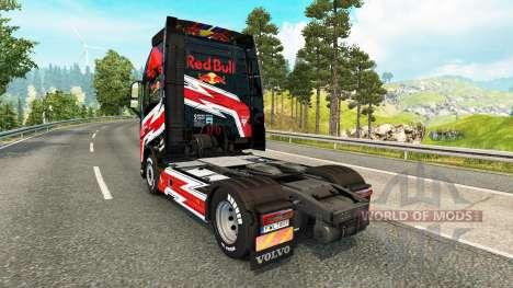 Red Bull skin for Volvo truck for Euro Truck Simulator 2