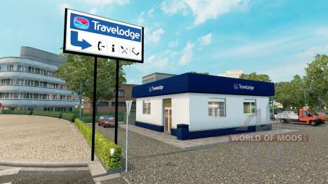 Hotel chain Travelodge and Premier Inn for Euro Truck Simulator 2