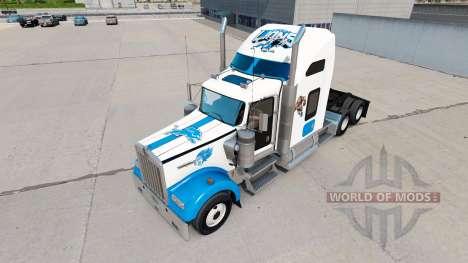 Skins NFL for truck Kenworth W900 for American Truck Simulator