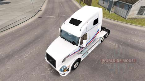 Skin Jacques Auger for tractor Volvo VNL 670 for American Truck Simulator