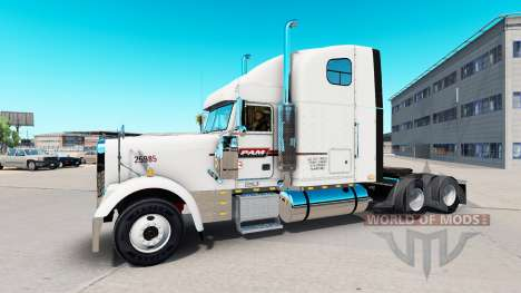 The skin on PAM Transport truck Freightliner Cla for American Truck Simulator