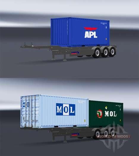 Semi container truck v1.1 for American Truck Simulator