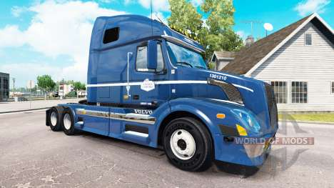Skin on Canada Cartage tractor Volvo VNL 670 for American Truck Simulator