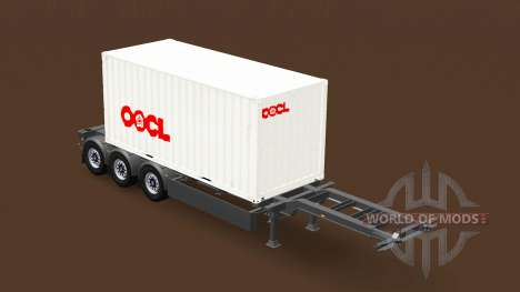 Semi-trailer with 20-pound container for American Truck Simulator