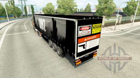 Skin DayZ on semi for Euro Truck Simulator 2