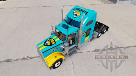 Skins NFL for truck Kenworth W900 for American Truck Simulator