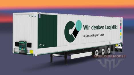 The semitrailer-van Krone Dryliner v3.0 for Euro Truck Simulator 2