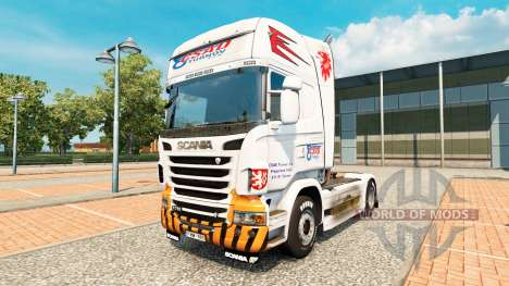 CSAD Turnov skin for Scania truck for Euro Truck Simulator 2