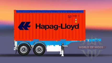 Container semi-trailer Schmitz for Euro Truck Simulator 2