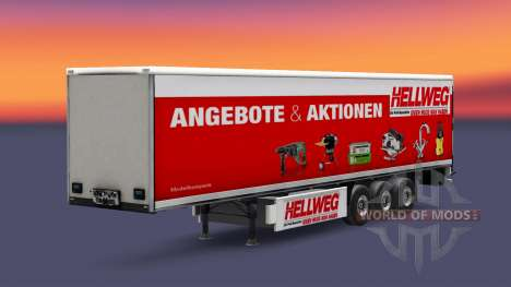 A collection of skins on the isometric semi-trai for Euro Truck Simulator 2