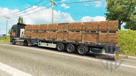 Semitrailer Wielton platform for Euro Truck Simulator 2