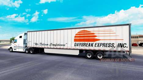 Skin Daybreak Express on the trailer for American Truck Simulator