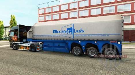 Skin Techno-Glass for semi-Steklova for Euro Truck Simulator 2
