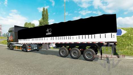 Onboard tilt semitrailer for Euro Truck Simulator 2