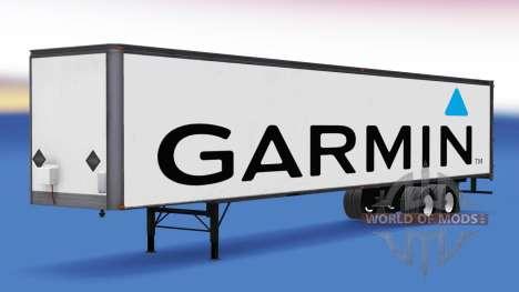 All-metal semi-Garmin for American Truck Simulator