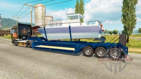 Low-frame trawl boat for Euro Truck Simulator 2