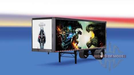 All-metal semi-trailer Dragon Age for American Truck Simulator