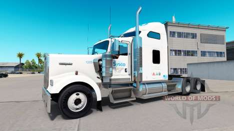 The skin on the Sysco truck Kenworth W900 for American Truck Simulator