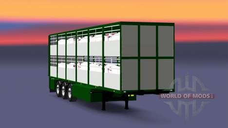 Semitrailer-cattle carrier Ferkel Trans for Euro Truck Simulator 2