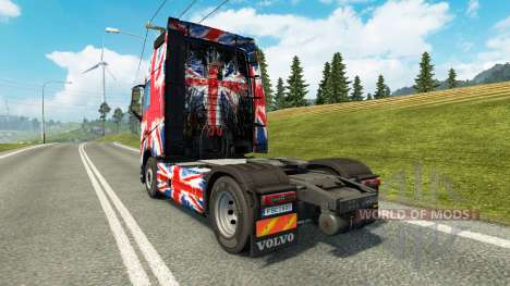 The England Copa 2014 skin for Volvo truck for Euro Truck Simulator 2