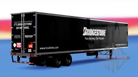 All-metal semi-Bridgestone for American Truck Simulator