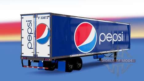 All-metal semi-trailer Pepsi for American Truck Simulator