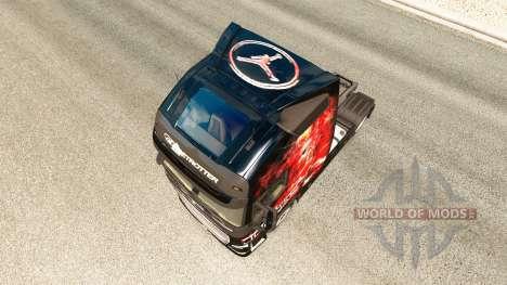 MJBulls skin for Volvo truck for Euro Truck Simulator 2