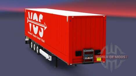 Semitrailer Krone Dry Liner for Euro Truck Simulator 2