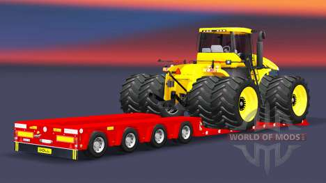 Low bed trawl Doll with cargo tractor for Euro Truck Simulator 2