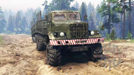 KrAZ-255 [double cab] for Spin Tires