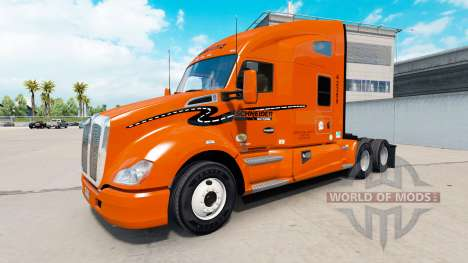 Skin Schneider National on truck Kenworth for American Truck Simulator