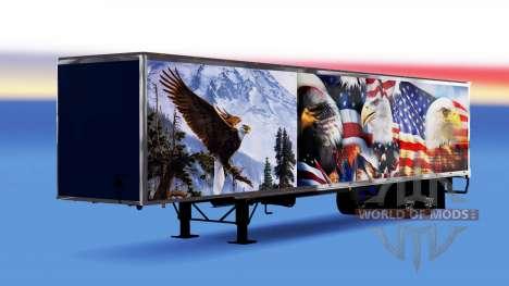 All-metal semitrailer Eagle for American Truck Simulator